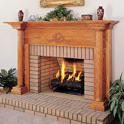 Olympus Wood Fireplace Mantel - A classic wood fireplace, the Olympus mantel will stand the test of time. Available in four wood choices with a number of finishes, when you think of a traditional mantel design, this is what comes to mind!
