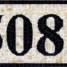 Mediterranean House Numbers by NewZeugma Custom Luxury Mosaics and Iznik Tiles