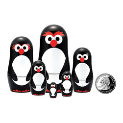 "The Original Toy Company - The Original Toy Company Kids Children Play Penguin Micro - These great micro size nesting dolls range in size from 3.25"" tall to a mere 3/4"" per set Collect them all. Gender: Both. weight: 1 lbs."