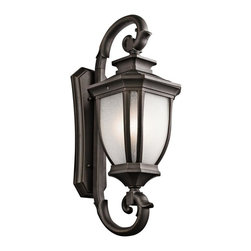 Kichler - Kichler Salisbury 4-Light Rubbed Bronze Wall Lantern - 9099RZ - This 4-Light Wall Lantern is part of the Salisbury Collection and has a Rubbed Bronze Finish. It is Outdoor Capable.