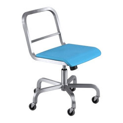 Nine-0 Swivel Chair, Open Back