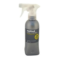 Method Products Stainless Steel Polish - Steel For Real - 12 Oz - Case Of 6 - Cleans + Polishes