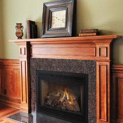 DXV - Granite takes a fireplace to the next level.