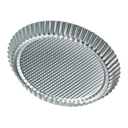 Frieling - Flan/Tart Pan, Tin-Plated Steel - Sturdy tin-plated steel. Waffle textured bottom promotes easy release when greased. Max temp 450 degrees F. Dishwasher safe.