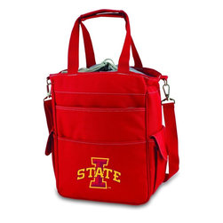 Picnic Time - Iowa State Activo Waterproof Tote in Red - The Activo Waterproof Tote has a fully insulated compartment that provides plenty of room for your food and drink items. The tote's exterior is made of durable polyester and the interior is made of heat-sealed PVC for no leaks. All materials used exceed federal and state safety regulations, so you can be assured the Activo is safe. The Activo is ideal for the beach, sporting events, or long trips in the car. It can also be used for transporting cold items to and from parties, or frozen goods home from the store. Spacious pockets provide additional storage and convenience. Versatile and stylish, this bag is one the whole family will love! ; College Name: Iowa State; Mascot: Cyclones; Decoration: Digital Print