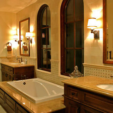 Mediterranean Bathroom by John Cinti Designs, LLC