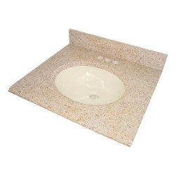 """Pegasus - Pegasus 68225 Beige Granite  25"""" Granite Vanity Top with Biscuit Bowl - 25"""" Granite Vanity Top with Biscuit Bowl Transform your bathroom with a beautiful granite vanity top with attached undermount porcelain sink. Perfect for quick and easy remodels! Obtain the beauty and durability of natural granite without hiring a professional. This granite top is easy to install and fits directly on top of any standard 24 inch vanity cabinet. The granite top is 25"""" in length, 22"""" deep, and .75"""" thick. Granite is a natural material and slight variations in color may occur and are natural.  This Natural Granite Vanity Top Saves You Time, Labor, and Money. Easy To Install and Fits Directly On Top of Any Standard 24"""" Vanity Cabinet. The Granite Top Is 25"""" In Length, 22"""" Deep, and .75"""" Thick. A Quality Porcelain Bowl Is Affixed To The Granite Top Giving You True Value and Convenience. Bowl Outside Dimensions Are 17"""" X 14"""" X 6"""" Deep. By Affixing The Porcelain Bowl At The Factory We Save You The Potentially Difficult Assembly. The Only Thing Required By You Is Choosing The Faucet."""
