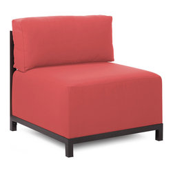 Howard Elliott - Howard Elliott Starboard Punch Axis Chair - Mahogany Frame - Axis chair starboard punch mahogany frame