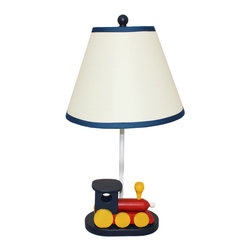 "ecWorld - Urban Designs 21"" Choo Choo Train Kids Table Lamp - Ideal for kids, this unique table lamp is the perfect lamp to uplift any room decor.  Features a miniature choo choo train affixed at the bottom part of the base, atop a soft beige shade that complements and lightens up the ambience in the bedroom. Long lasting performance and a prolonged shelf life."