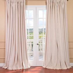 Ivory Velvet Blackout Extra Wide Curtain Panel -