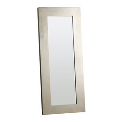 Chunky Wood Floor Mirror - This mirror is an instant focal point in a room.