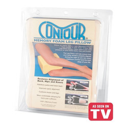 Contour Products - Contour Memory Foam Leg Pillow Multicolor - 29-101R-DS-370 - Shop for Pillows from Hayneedle.com! Relieving lower back pain doesn't have to cost thousands of dollars for hours of physical therapy. It can be as affordable - and as easy - as the Contour Memory Foam Leg Pillow a supportive 100% memory foam pillow that aligns the hips legs and spine to reduce strain on the lower back. The contoured pillow conforms to the exact shape of your body and stays comfortably in place all night. Included is a soft removable machine-washable velour cover.About Contour LivingAt Contour Living comfort isn't a luxury - it's a daily necessity for quality sleep and good health. Since the introduction of its first product in 1991 the Fort Lauderdale Fla. company has been committed to producing unique items to properly align bodies of all ages for better rest at night comfort during the day and improved total well-being. Contour partners with physicians chiropractors and sleep experts to develop its exclusive patents and every product is tested before being put on the market to ensure the best promotion - and results - possible.