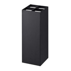 Yamazaki - Smart Umbrella Stand, Black - This simple yet elegantly designed umbrella stand can accommodate up to 4 umbrellas within its compartments. It is built from durable steel, and features a removable base for easy cleaning.