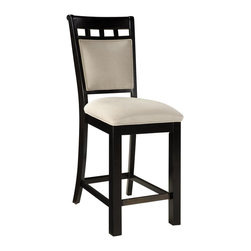 Standard Furniture - Standard Furniture Gateway White Barstool in Dark Chicory Brown (Set of 2) - Impressive proportions and bold styling give Gateway Dining a dynamic contemporary personality.