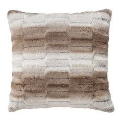 Threshold Faux Fur Toss Pillow, Tan