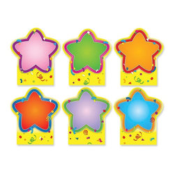 Carson-Dellosa - Carson-Dellosa Quick Stick Star Good Work Holder - 5 x 5.8 - Multicolor - Good Work Holder is an excellent way to give recognition, boost confidence, and encourage successful work. set includes six accents, measuring 5 x 5-3/4, and each accent has a reusable adhesive strip on the front for displaying student work. You no longer need tape, staples, or pushpins. Self-adhesive backing sticks instantly to most smooth surfaces, such as wood, metal and painted cinder blocks. Use the reusable adhesive strip on the front for displaying student work. The star-themed holder can be repositioned again and again. Remove the holder without damaging your walls. Holder is designed for grades up to fifth and ages up to 10.