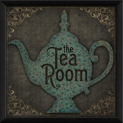 The Artwork Factory - The Tea Room Framed Artwork - Transport yourself to an English tea parlor with this lovely piece of art on your wall. The museum quality, framed print will look exquisite in your kitchen or sitting room.