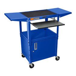 Luxor - Luxor Presentation Cart - AVJ42KBCDL-RB - The Luxor AVJ42 series are excellent multipurpose AV/utility carts.