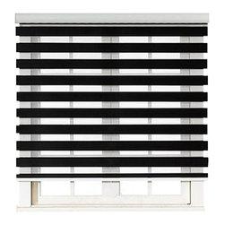 """Blinds-US - Roller Zebra Blind / Light filtering sheer shade, Black, 36""""in W X 72""""in L / 91. - Product Description"""