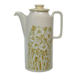 Lavish Shoestring - Consigned Coffee Pot with Flowers by Hornsea Fleur, Vintage English - This is a vintage one-of-a-kind item.