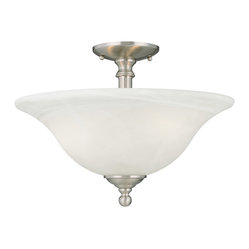 Thomas Lighting - Riva Semi-Flush Mount - Thomas Lighting SL869678 Riva Brushed Nickel Semi-Flush Mount