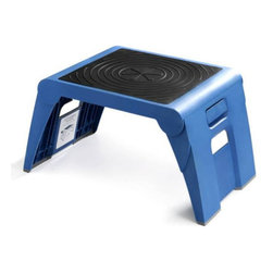 Cramer - Cramer 1UP Folding Step Stool - 50051PK-63 - Shop for Stepstool from Hayneedle.com! Think you don't have room for a step stool? Yeah right. The Cramer 1UP Folding Step Stool fits in any closet or trunk and packs 10 inches and 250 pounds of stepping power. This foldable stool is made from high-density plastic that stands up to anything and looks great doing it. There's grippy tread on top foldable legs below and even a hole to help you hang it on the wall. About Cramer Cramer has sitting around since the 1930s and that's not a bad thing. Since making their first chairs for Hallmark artists after the Great Depression the company has been dedicated to creating seats and stools for people in every profession. They make the world's best desk chair sure but they also make the step stools for the library and seats for nurses scientists workers and more. If you give a sit about where you work trust in Cramer.
