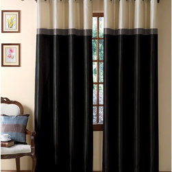 Victoria Classics - Victoria Classics Westin Interlined 58L x 84H in- Grommet Curtain Panel - WTG-PN - Shop for Curtains and Drapes from Hayneedle.com! A stylish and smart way to frame your window the Victoria Classics Westin Interlined 58L x 84H in- Grommet Curtain Panel is ideal for your urban environment or bedroom. This curtain panel has a wide stripe design and comes in your choice of stylish color combinations to fit into any room. This smart curtain has a blackout lining that keeps the light out and your energy bills down. Nice! It's made of durable polyester with a subtle sheen to make it look like silk. The metal grommet design presents a contemporary look for your home.