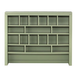 Martha Stewart Living - Martha Stewart Living™ Craft Space Apothecary Hutch - Our Martha Stewart Living™ Craft Space Apothecary Hutch offers stylish storage for your work table. Fill the numerous cubbies and trays with supplies to keep them in reach; the open area at the bottom ensures you still have plenty of work surface for your projects. Open hutch with 18 cubbies. Add Martha Stewart Living™ Craft Space Shallow Cubby Drawers to organize your supplies. Your choice of finish. Scratch-resistant.