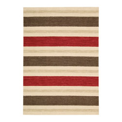 """Nourison - Barclay Butera 13885 Savana 3'6"""" x 5'6"""" Oxford Area Rug Collection - Casual elegance with a touch of traditional sophistication describes these handsome signature stripe-style Oxford rugs that are quintessential Barclay Butera. Well-defined stripes made of wool in varying widths with gentle colorways make these rugs the perfect solution for a classic beach house, city pied--terre, or rustic country home. 100% Wool Loop Pile hand loomed in India"""