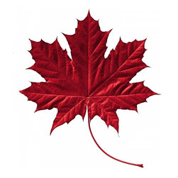 Wallmonkeys Wall Decals - Crimson Maple Leaf Wall Decal - 48 Inches H - Easy to apply - simply peel and stick!