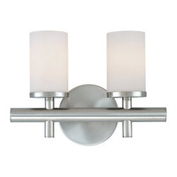 Dolan Designs - Dolan Designs 432 2 Light Ambient Light Bathroom Fixture from the Alto Collectio - Dolan Designs 432-78 Alto 2 Light Ambient Light Bathroom FixtureA minimalist modern design, this Contemporary 2 Light Bathroom Fixture, features Satin White Glass Shades and simple stylish 90 degree arms with a fine Bolivian finish. This fixture will bring a sleek modern look to any home.Alto features simple stylish 90 degree arms with a fine Bolivian finish. A minimalist modern design, this collection will bring a sleek modern look to any room. Dolan Designs 432 Features: