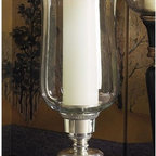 """Dessau Home - 22 in. Embossed Hurricane Candleholder w Rim - Made from brass. Made in IndiaValue has always been an essential ingredient at Dessau Home. """"Essentials"""" represents a collection of well-appointed yet affordable home furnishings with a unique traditional styling that appeals to most transitional and contemporary home decorating needs."""