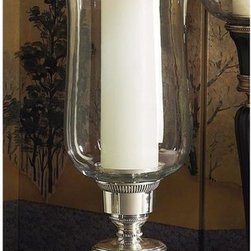 "Dessau Home - 22 in. Embossed Hurricane Candleholder w Rim - Made from brass. Made in IndiaValue has always been an essential ingredient at Dessau Home. ""Essentials"" represents a collection of well-appointed yet affordable home furnishings with a unique traditional styling that appeals to most transitional and contemporary home decorating needs."