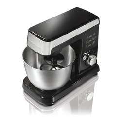 Hamilton Beach - Hamilton Beach 63327 6 Speed Stand Mixer - Black - 63327 - Shop for Stand from Hayneedle.com! You'll love mixing with the Hamilton Beach 63327 6 Speed Stand Mixer - Black. This durable standing mixer is perfect for getting your cooking mojo working. With its 300-watt motor and 6 speed settings this standing mixer can do just abour anything even folding. The included flat beater dough hook and whisk are all dishwasher safe and the mixer's head tilts up for easy access to the 3.5-quart bowl.About Hamilton BeachOne of the country's leading distributors of small kitchen appliances Hamilton Beach Brands Inc. sells over 35 million appliances every year. The company's most famous brands -- Hamilton Beach Eclectrics Proctor Silex and TrueAir -- are found in households across America Canada and Mexico. Hamilton Beach takes immense pride in their product quality wide variety of options superior customer service and brand name strength and remains committed to serving customers through Good Thinking applied to the style and function in all of their small electric appliances.