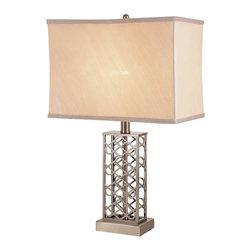 Trans Globe - Trans Globe Open Weave Nickel Lamp - Trans Globe Open Weave Nickel Lamp