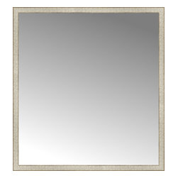 """Posters 2 Prints, LLC - 52"""" x 56"""" Libretto Antique Silver Custom Framed Mirror - 52"""" x 56"""" Custom Framed Mirror made by Posters 2 Prints. Standard glass with unrivaled selection of crafted mirror frames.  Protected with category II safety backing to keep glass fragments together should the mirror be accidentally broken.  Safe arrival guaranteed.  Made in the United States of America"""