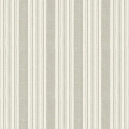 """Ballard Designs - Wyndham Pebble Fabric by the Yard - Content: 100% Cotton. Repeat: Non-railroaded fabric. Care: Dry Clean. Width: 54"""" wide. Off-white and pebble stripe woven in soft, textured 100% cotton. .  . . . Because fabrics are available in whole-yard increments only, please round your yardage up to the next whole number if your project calls for fractions of a yard. To order fabric for Ballard Customer's-Own-Material (COM) items, please refer to the order instructions provided for each product. Ballard offers free fabric swatches: $5.95 Shipping and Processing, ten swatch maximum. Sorry, cut fabric is non-returnable."""