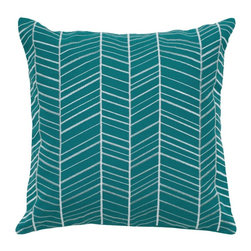 Rizzy Home - Rizzy Home Zig Zag Embroidered Decorative Throw Pillow - T05235 - Shop for Pillowcases and Shams from Hayneedle.com! The Rizzy Home Zig Zag Embroidered Decorative Throw Pillow adds a pop of bright color to your sofa. This accent pillow comes in your choice of bold color accented by an embroidered zig zag pattern that adds visual interest. This pillow is made of cotton with a hidden zipper and removable polyester insert. Hand wash the cover in cold water and lay flat to dry.About Rizzy HomeRizwan Ansari and his brother Shamsu come from a family of rug artisans in India. Their design color and production skills have been passed from generation to generation. Known for meticulously crafted handmade wool rugs and quality textiles the Ansari family has built a flourishing home-fashion business from state-of-the-art facilities in India. In 2007 they established a rug-and-textiles distribution center in Calhoun Georgia. With more than 100 000 square feet of warehouse space the U.S. facility allows the company to further build on its reputation for excellence artistry and innovation. Their products include a wide selection of handmade and machine-made rugs as well as designer bed linens duvet sets quilts decorative pillows table linens and more. The family business prides itself on outstanding customer service a variety of price points and an array of designs and weaving techniques.