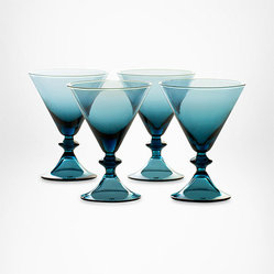 DVF High Rise Stemware Martin Glasses in Erawan Blue