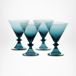 DVF High Rise Stemware Martin Glasses in Erawan Blue - These gorgeous glasses are such an amazing set of blue glass that you'll want to leave them out on display all the time. It will be worth the dusting.
