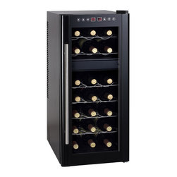 Sunpentown - Dual-Zone Thermo-Electric Wine Cooler with Heating, 21-Bottle - ThermoElectric + Heating Technology   Environment friendly