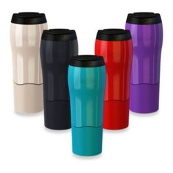 Mighty Mug - Mighty Mug Go 16-Ounce Travel Mug - Mighty Mug Go takes its innovative spill-free mug design to the road. Drink coffee and other beverages on the go and don't worry about the bumps in the road. You'll stay stain free and well caffeinated.