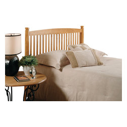 Hillsdale Furniture - Hillsdale Oak Tree Panel Headboard - Full/Queen - The Oak Tree headboard blends current styling with rich medium oak finished hard wood. Special details include slat spindles and 2-1/4 octagonal legs.