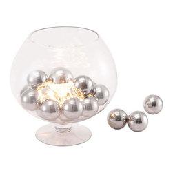 Terran Table Lamp - Chrome Ball, Clear Glass.