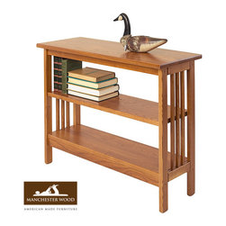 Mission Underwindow Bookshelf with Adjustable Shelf - Take advantage of unused space with this practical storage piece. Adjustable shelf. Sturdy solid ash, durable lacquer finish.