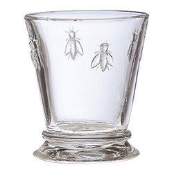 La Rochere - La Rochere Napoleon Bee Old Fashioned Glasses (Set of 6) - Update your barware collection with a set of old fashioned glasses Tumblers feature the famous Napoleon bee embossed around top French-made glasses have a 9 ounce capacity