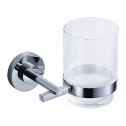 "Fresca - Fresca Alzato Tumbler Holder - Chrome - Dimensions:  4.25""W x 4""D x 3.75""H. Heavy Duty Brass with Triple Chrome Finish.   All of our Fresca bathroom accessories are made with brass with a triple chrome finish and have been chosen to compliment our other line of products including our vanities, faucets, shower panels and toilets.  They are imported and selected for their modern, cutting edge designs."