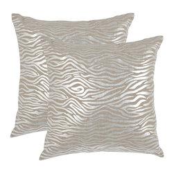 Safavieh - Demi Accent Pillow  - 18x18 - Gray - Demi Accent Pillow  - 18x18 - Gray