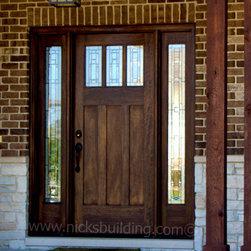 Exterior Doors - http://www.nicksbuilding.com/Arts_and_Crafts_Exterior_Doors.php