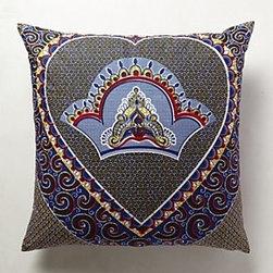 "Anthropologie - Empress Pillow - Bottom zipCotton; down feather fillMachine wash30"" squareHandmade in USA"